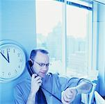 Businessman Using Phone    Stock Photo - Premium Rights-Managed, Artist: Orbit, Code: 700-00546383