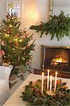 Christmas Tree in Living Room    Stock Photo - Premium Rights-Managed, Artist: Jerzyworks, Code: 700-00547216
