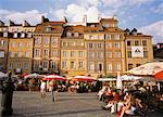 Sidewalk Cafe in City Square, Old Town Square, Warsaw, Poland