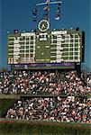 Scoreboard, Wrigley Field, Chicago, Illinois, USA    Stock Photo - Premium Rights-Managed, Artist: Gail Mooney, Code: 700-00549146