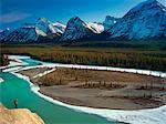 Goat Lick Viewpoint, Athabasca River, Jasper National Park, Alberta, Canada