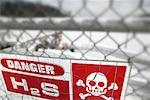 Hydrogen Sulphide Gas Warning Sign    Stock Photo - Premium Rights-Managed, Artist: Boden/Ledingham, Code: 700-00549358