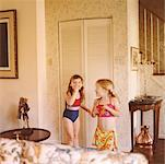 Girls Playing in Living Room    Stock Photo - Premium Rights-Managed, Artist: Tom Feiler, Code: 700-00549893