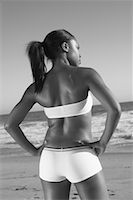 peter griffith - Back View of Woman on Beach    Stock Photo - Premium Rights-Managednull, Code: 700-00550115