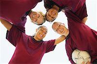 football team - Soccer Team Huddling    Stock Photo - Premium Rights-Managednull, Code: 700-00550133