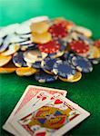 Playing Cards and Poker Chips    Stock Photo - Premium Rights-Managed, Artist: Tom Collicott, Code: 700-00550387