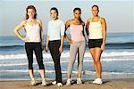 Four Women On The Beach