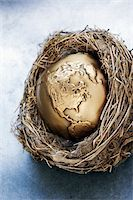 Earth in Nest    Stock Photo - Premium Royalty-Freenull, Code: 600-00551129