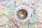 Compass on Map of France Stock Photo - Premium Rights-Managed, Artist: David Muir, Code: 700-00551107