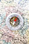 Compass on Map of France    Stock Photo - Premium Rights-Managed, Artist: David Muir, Code: 700-00551110