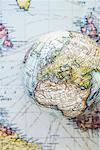 Globe and Map    Stock Photo - Premium Rights-Managed, Artist: David Muir, Code: 700-00551130