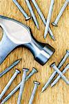 Close-Up of Hammer and Nails    Stock Photo - Premium Rights-Managed, Artist: David Muir, Code: 700-00551135