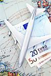 Toy Plane with Map and ECU Currency    Stock Photo - Premium Rights-Managed, Artist: David Muir, Code: 700-00551157