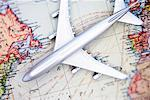 Toy Airplane on Map    Stock Photo - Premium Rights-Managed, Artist: David Muir, Code: 700-00551159