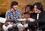Friends at a Restaurant    Stock Photo - Premium Rights-Managed, Artist: Masterfile, Code: 700-00551288