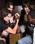 Men Arm Wrestling    Stock Photo - Premium Rights-Managed, Artist: Masterfile, Code: 700-00551352