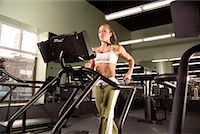 Woman Using Treadmill    Stock Photo - Premium Rights-Managednull, Code: 700-00551494