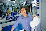 Owner of Dry Cleaning Service    Stock Photo - Premium Rights-Managed, Artist: Raoul Minsart, Code: 700-00551583