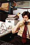 Businessman Using Phone    Stock Photo - Premium Rights-Managed, Artist: Michael Goldman, Code: 700-00552173