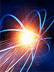 Abstract Image of Radiating Light    Stock Photo - Premium Rights-Managed, Artist: Bill Frymire, Code: 700-00553054