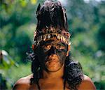 Portrait of Man from Yanomami Tribe    Stock Photo - Premium Rights-Managed, Artist: Mark Downey, Code: 700-00553830