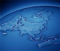 World Map Showing Asia and Pacific Rim    Stock Photo - Premium Rights-Managednull, Code: 700-00553858