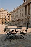 Table and Chairs in Courtyard, Somerset House, London, England    Stock Photo - Premium Rights-Managed, Artist: Peter Christopher, Code: 700-00553936
