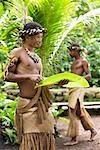 Man in Traditional Clothing, Ekasup Cultural Village, Efate, Vanuatu    Stock Photo - Premium Rights-Managed, Artist: R. Ian Lloyd, Code: 700-00553968