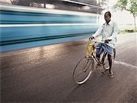 Man Riding Bicycle, Mumbai, India    Stock Photo - Premium Rights-Managednull, Code: 700-00554721