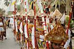 Parade of Young Men Down The Street, Bali, Indonesia