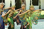 Dancers in Traditional Costume, Java, Indonesia