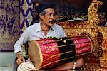 Man Playing Traditional Drum, Bali, Indonesia    Stock Photo - Premium Rights-Managed, Artist: Mark Downey, Code: 700-00554769