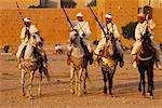 Men Riding Horses, Marrakech, Morocco    Stock Photo - Premium Rights-Managed, Artist: Mark Downey, Code: 700-00554842