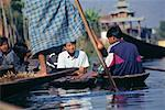 Teenagers in River Boats, Inle Lake, Myanmar    Stock Photo - Premium Rights-Managed, Artist: Mark Downey, Code: 700-00554853