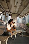 Couple Taking Photo with Cellular Phone, Bangkok, Thailand    Stock Photo - Premium Rights-Managed, Artist: dk & dennie cody, Code: 700-00555121