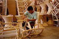 filipino (male) - Man Making Chair, Philippines    Stock Photo - Premium Rights-Managednull, Code: 700-00555247