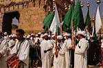 People Holding Flags, Musical Instruments, Morocco