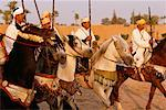 Men Riding Horses, Marrakech, Morocco    Stock Photo - Premium Rights-Managed, Artist: Mark Downey, Code: 700-00555593