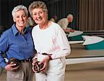 Portrait of Women at Bowling Alley Stock Photo - Premium Rights-Managed, Artist: Dan Lim, Code: 700-00555971