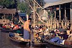 People at Floating Market, Inle Lake, Myanmar