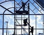 Workers on Scaffolding    Stock Photo - Premium Rights-Managed, Artist: Ken Davies, Code: 700-00556282