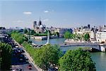 View of La Seine and Notre Dame, Paris, France