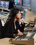 Video Editor Working    Stock Photo - Premium Rights-Managed, Artist: Peter Christopher, Code: 700-00556595