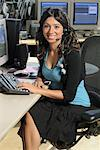 Woman Working in Post Production Studio    Stock Photo - Premium Rights-Managed, Artist: Peter Christopher, Code: 700-00556596