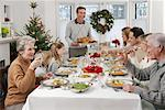 Family At Christmas Dinner    Stock Photo - Premium Rights-Managed, Artist: Jerzyworks, Code: 700-00557506