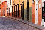 Colourful Buildings, San Miguel de Allende, Guanajuato, Mexico    Stock Photo - Premium Rights-Managed, Artist: Jeremy Woodhouse, Code: 700-00560811