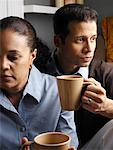 Couple Drinking Coffee    Stock Photo - Premium Rights-Managed, Artist: Tom Feiler, Code: 700-00588691