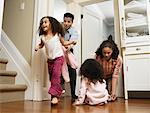 Family at Home    Stock Photo - Premium Rights-Managed, Artist: Tom Feiler, Code: 700-00588701