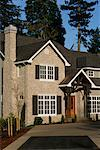 Exterior of House, Lake Oswego, Oregon, USA    Stock Photo - Premium Rights-Managed, Artist: David Papazian, Code: 700-00588729