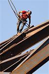 Steelworker Working on Building    Stock Photo - Premium Rights-Managed, Artist: Peter Christopher, Code: 700-00588894